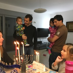 Lighting the Chanukah candles