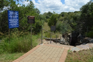 The entrance to the caves