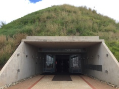 The entrance - the museum was built into a huge mound in the Earth!