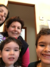 Family selfie, done by Ilan (a 7 year old)..