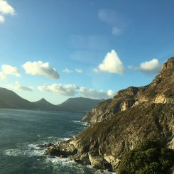 Lovely drive along the coast...
