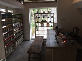 The tasting room at the Tea House