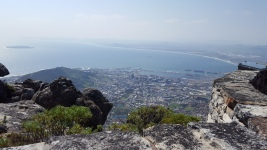 The view of the city from Table Mountain
