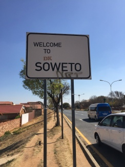 The entrance to Soweto...