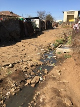 One of the extremely poor neighborhoods in Soweto...