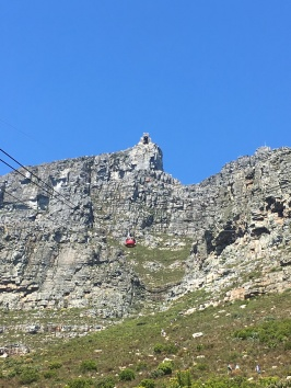 The cableway coming back from the top of Table Mountain!