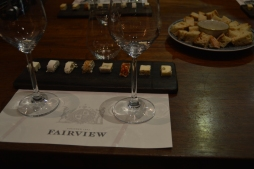 Cheese pairing for the wine! Made on-site from their goats... Yum.