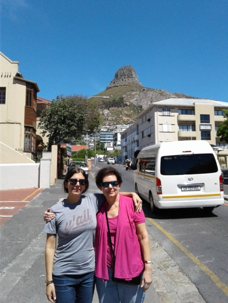 The view of Lion's Head from our neighborhood in Cape Town!