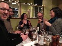 Something really funny was going on at that end of our NYE dinner table!