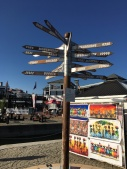 Neat signpost on the boardwalk!