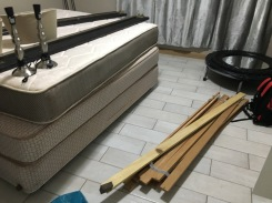 The beds that our place came with - we ended up giving them back to make room for our stuff...