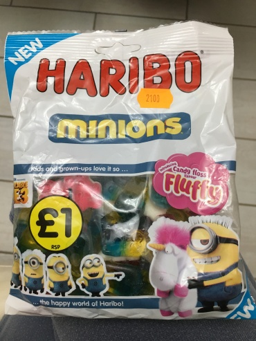 Um, cotton candy gummies?! Yes, please! (Discovered at the British-owned grocery store...)