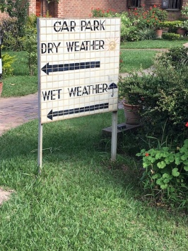 This sign made no sense and made us laugh...