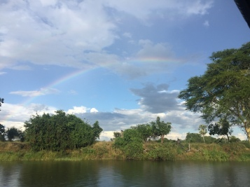 Beautiful rainbow as we started our evening boat ride...