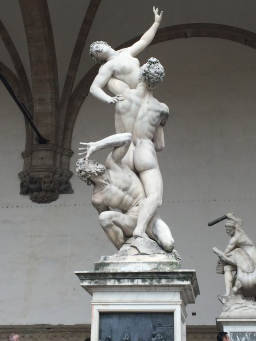 """The Rape of the Sabine Women"" in the Loggia dei Lanzi"