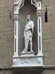 "Donatello's ""St. George"" outside of Orsanmichele Church"