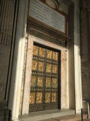 Ornate door of the Baptistery