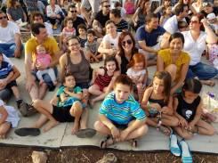At the Shavuot Holiday Festival at the kibbutz...