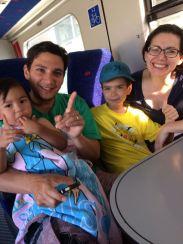 On the train to Haifa!