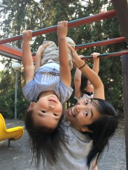 Hanging around on the playground!