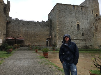 Jon, outside of the fortress with a tasting room!