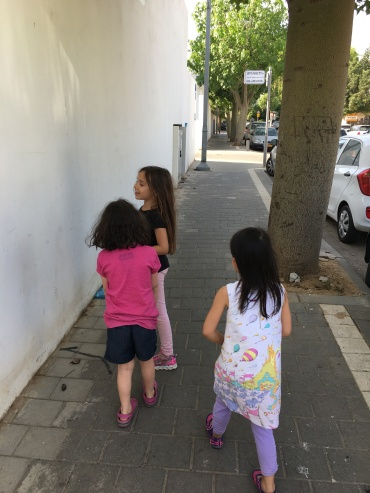 The girls, going for a walk...