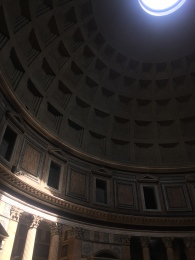 Inside the Pantheon - the light moves according to the hour...