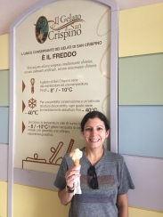 MY FIRST GELATO! AND AT CRISPINO, NO LESS!