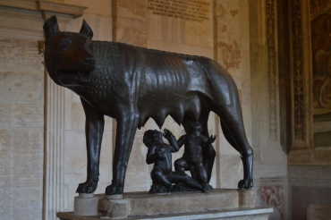 """She-Wolf"" statue at the Capitoline Museum"
