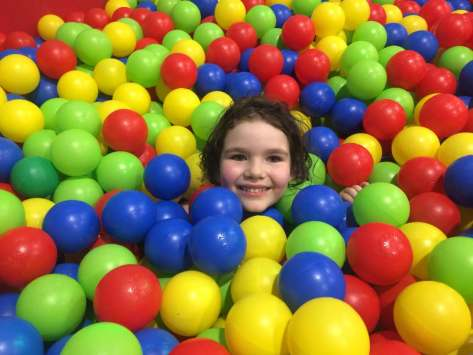 The ball pit was also fun!