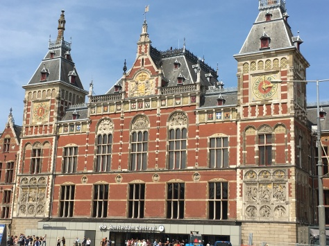 The beautiful Centraal Station!
