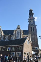 A beautiful church by the Anne Frank House.