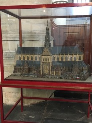 The model of the church.