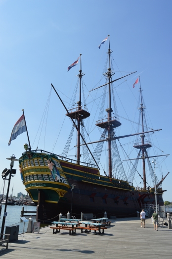 The replica of 'The Amsterdam'
