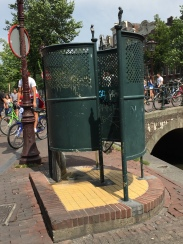 A public urinal - apparently a lot of people die in the canal next to it because they're drunk and fall in.