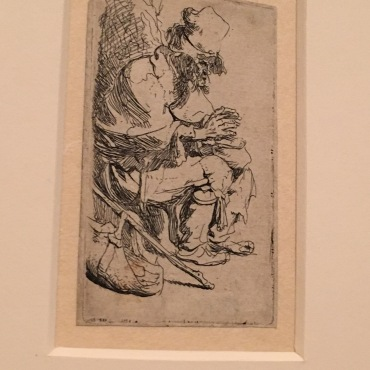 An example of one of his etchings.