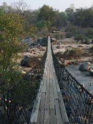 There was a suspension bridge that we took to/from the lodge and the safari truck. Ever tricky!