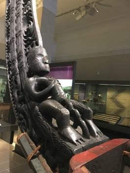 A waka, a Maori war canoe...