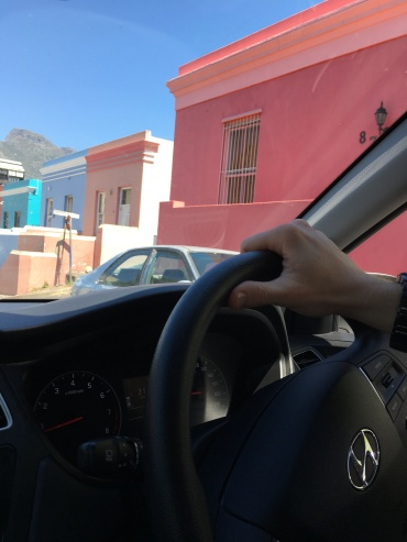 Had to take this quickly because traffic in the Bo Kaap is nuts, but the colorful buildings are gorgeous!