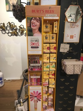 They sold Burt's Bees stuff at a honey-focused store downtown!