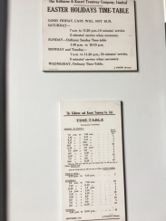 The old time table!