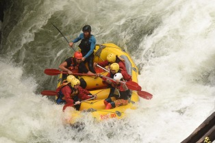 Just managing some rapids, no big deal!