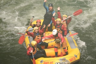 And... This is when the medic pushed Jon out of our raft!