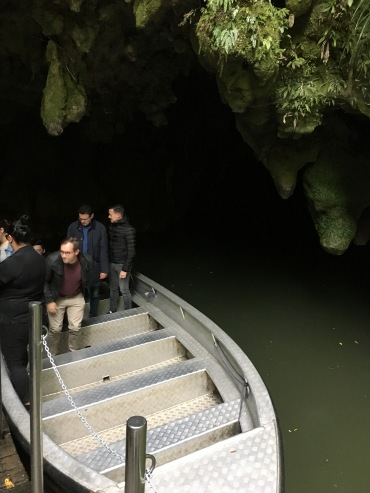 Our boat, coming out of the cave!