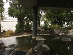 The beautiful pools at the Polynesian Spa...