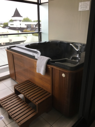 Our fancy hot tub!