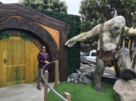 Outside of the Weta Workshop...