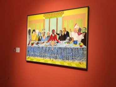 A super cool exhibit of artists from Zimbabwe. See the interesting guests at the 'last supper'?