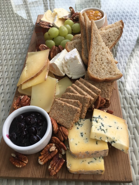 Our cheese plate at dinner - YUM!