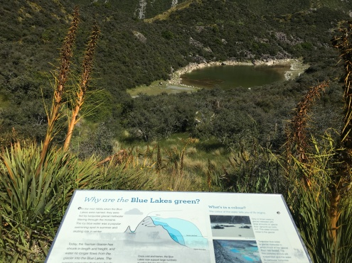 Yeah, so we were wondering why the Blue Lakes were green and they had this handy guide!!